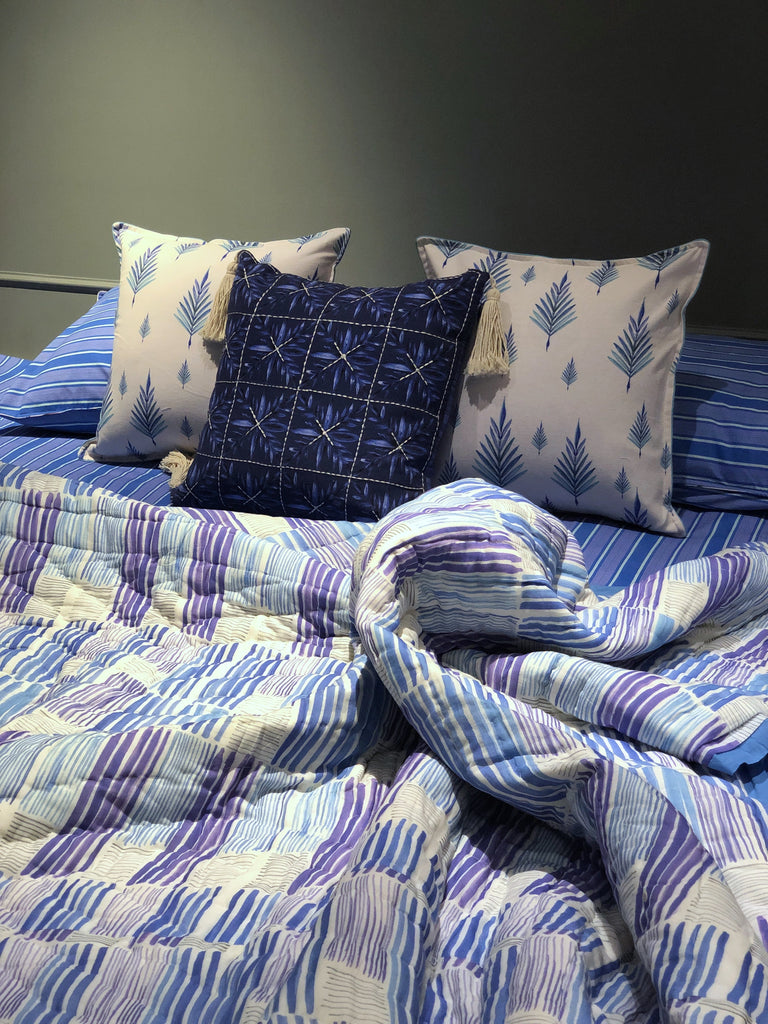 Shades of Blue | 100% Cotton | 7 PC Set | King Size