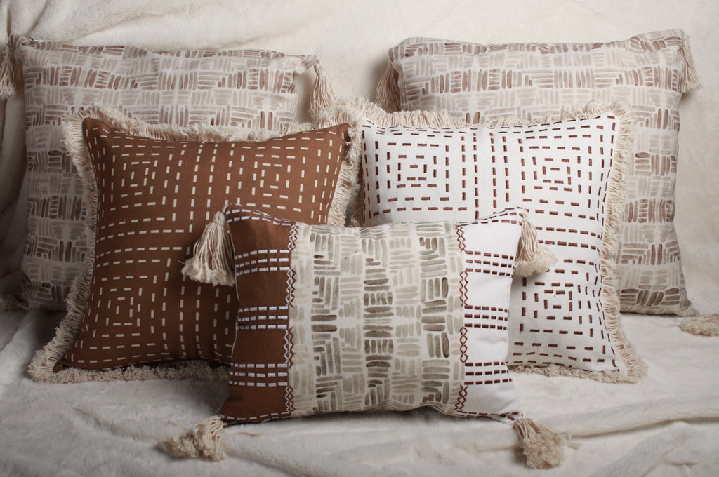 De-Stress Neutral Colour cushion set of 5 | Deme x vVyom