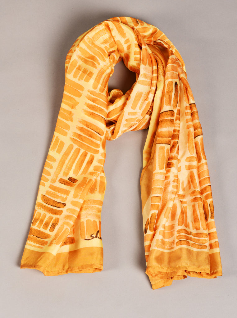 Pure Silk Scarf-Colour Story-Cadmium Orange