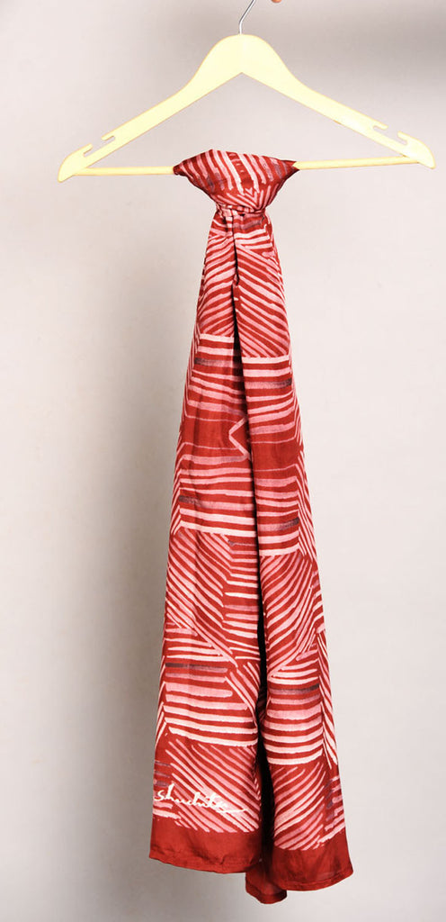 Pure Silk Scarf-Colour Story-Scarlet Red
