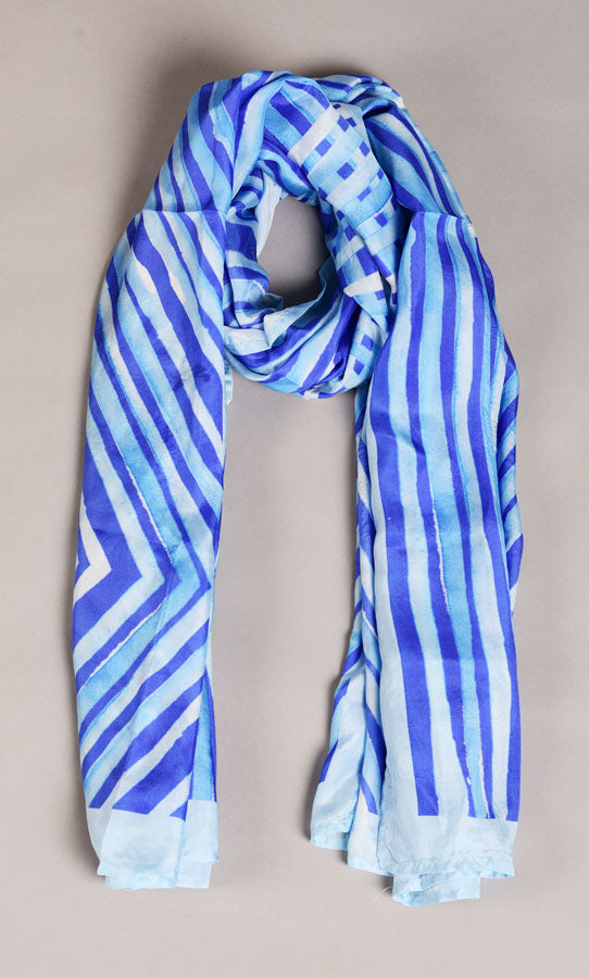 Pure Silk Scarf - Colour Story - Ultra Marine
