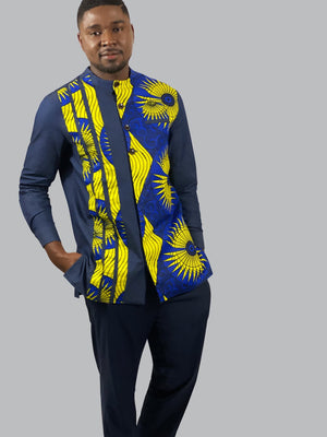 African Print men Long-Sleeves Shirt - Lyse Collection