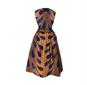 Hausa Tribe African Print Dress - Lyse Collection