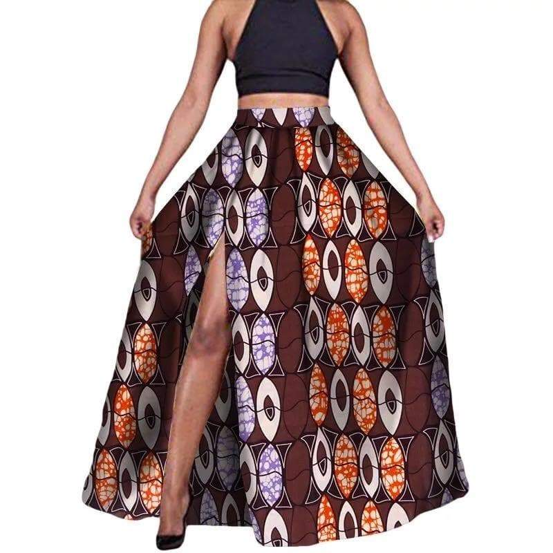 Pattern Front Slit Maxi Skirt - Lyse Collection