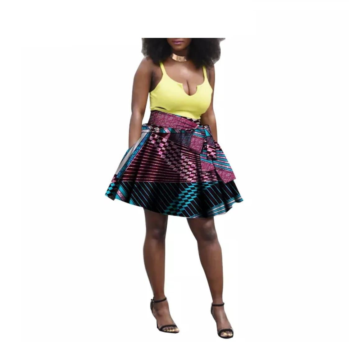 Pattern Short Skirt - Lyse Collection