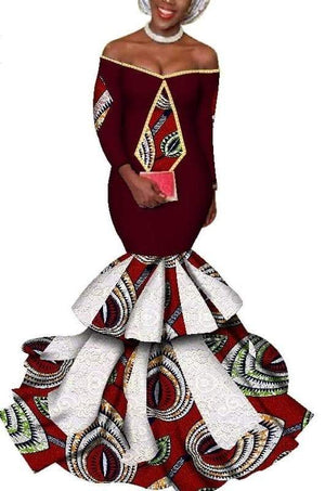 Queen of Amhara African Print Evening Dress - Lyse Collection