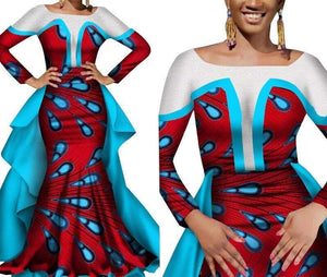 Queen of Berber African Print Evening Dress - Lyse Collection