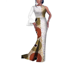 Queen of Dinka African Print Single Sleeve Dress - Lyse Collection