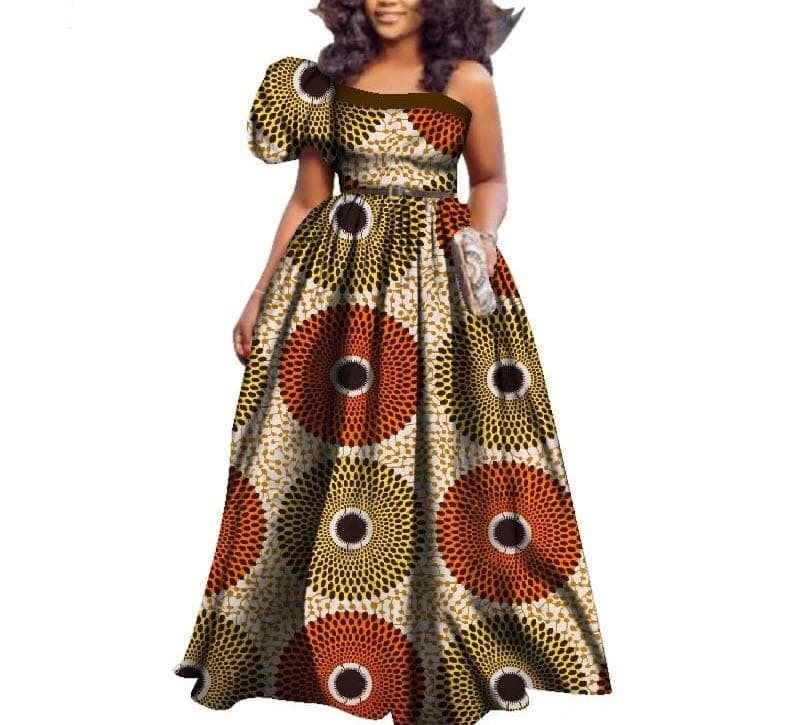 Queen of Dongo African Print Single Sleeve Dress - Lyse Collection