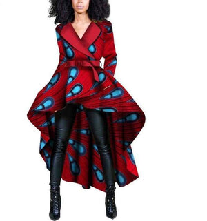 Xhosa Tribe African Print Trench Jacket - Lyse Collection
