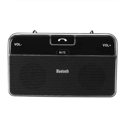 Wireless Bluetooth 4.0 In-Car Speakerphone Sun Visor Music Bluetooth Receiver Car Charger
