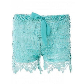 Sweet Lace-Up Light Green Lace Shorts For Women - Light Green S