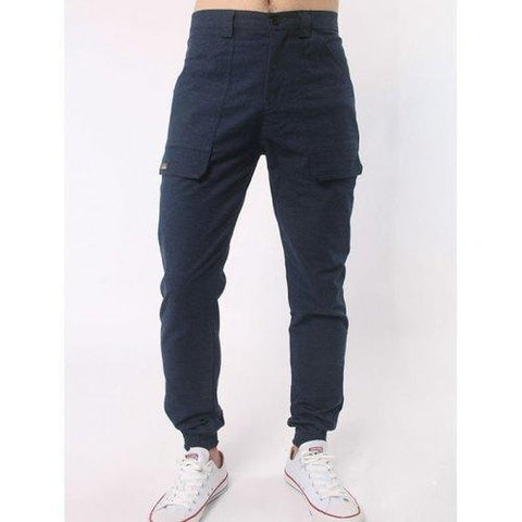 Zipper Fly Letter Label Jogger Pants - Cadetblue 2xl