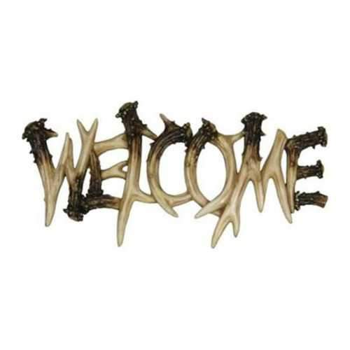 Rivers Edge Deer Antler Theme WelcomePlaque 1382