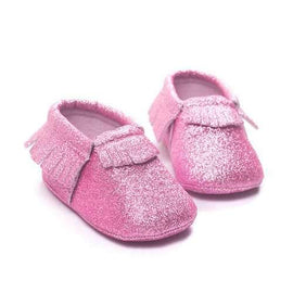 Shiny Tassel Slip On Shoes For 0-24M
