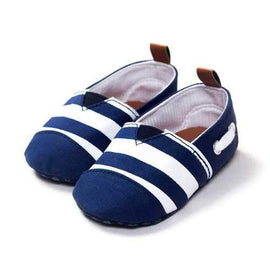 Canvas Stripe Slip On Shoes For 0-24M