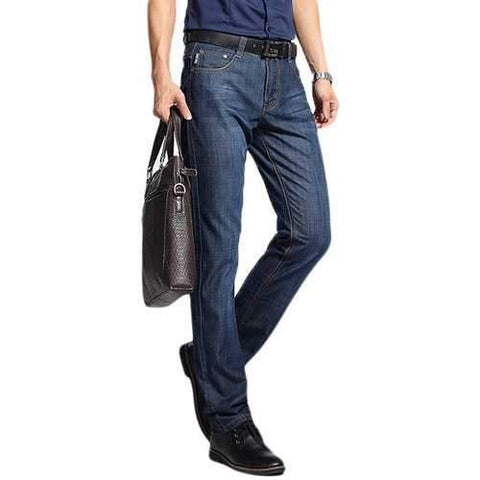 Straight Leg Cotton Breathable Long Jeans