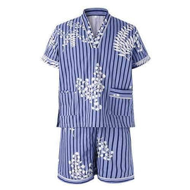 Steamed Sauna Stripes Printing Sleepwear Suits