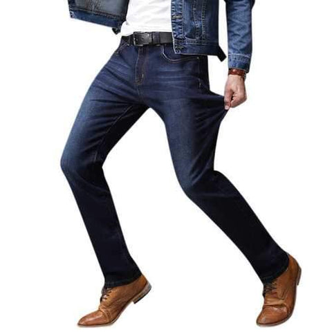 Straight Leg Denim Slim Jeans