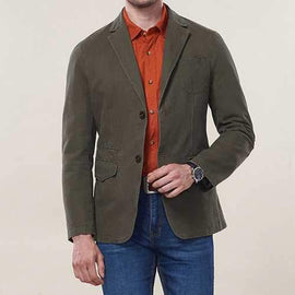 Plus Size Mens Pockets Jackets Blazers