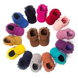 Soft Tassels First Walkers Baby Shoes For 0-24M