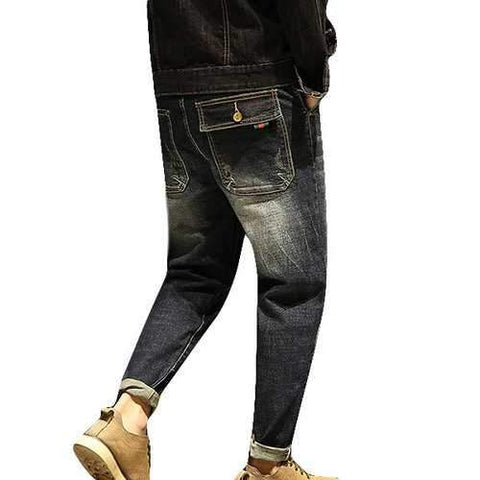 Hip-hop Patchwork Cotton Jean