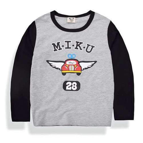 Printed Boys Long Sleeve T Shirt