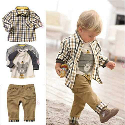 3pcs Printed Boys Clothing Sets