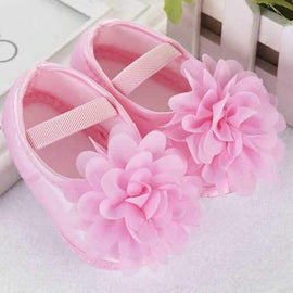 Flower Baby Girls Soft Shoes For 0-24M