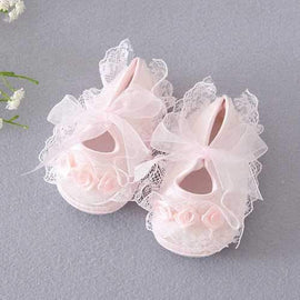 Flower Princess Style Baby Shoes For 0-24M