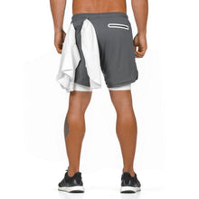 Load image into Gallery viewer, Grey Ultimate 3-in-1 Secure Pocket® Shorts