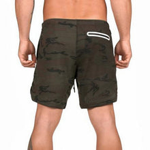 Load image into Gallery viewer, Brown Camo 2-in-1 Secure Pocket® Shorts