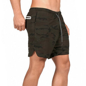 Brown Camo 2-in-1 Secure Pocket® Shorts