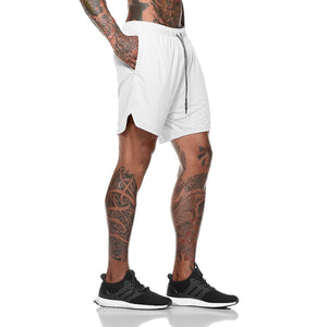 White 2-in-1 Secure Pocket® Shorts