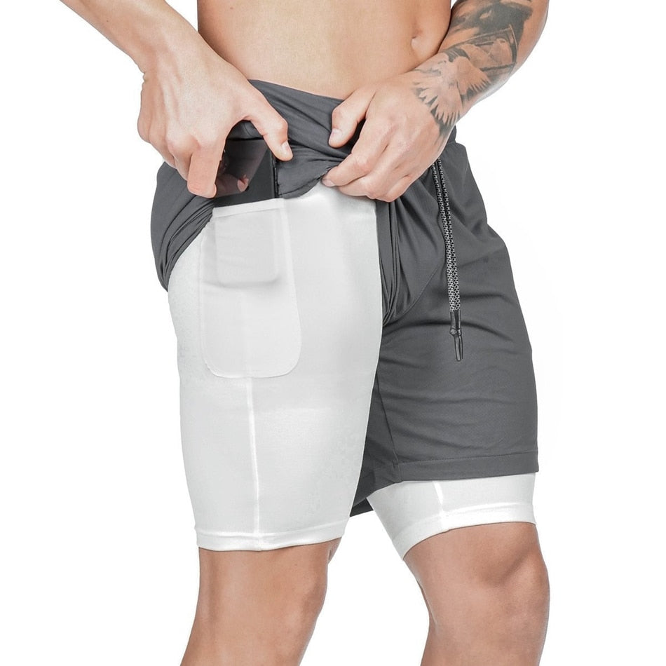 Dark Grey 2-in-1 Secure Pocket® Shorts