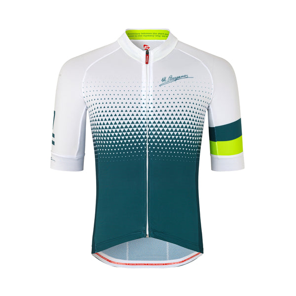 77MB COMO DOT KORT TRIKOT - LIME GREEN / WHITE