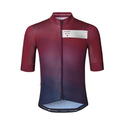 Waves Kort Trikot - Navy/Burgundy