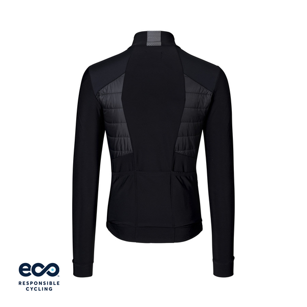 PAUL PADDED JERSEY LS BLACK ECO