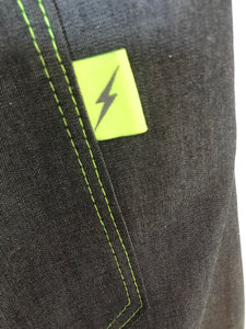 back patch pocket with neon detail