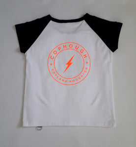 NEW! COPHOUGH SLIM, CAP SLEEVE RAGLAN T. Limited edition