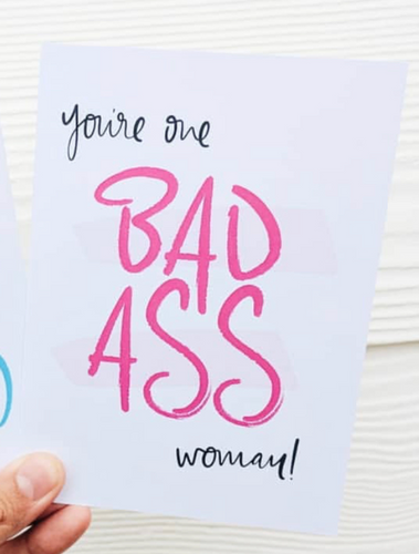 Bad Ass Woman Card