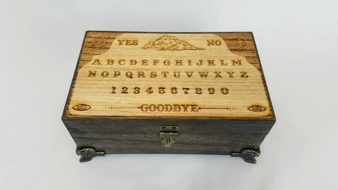 Ouija / Spirit Board Box With Planchette and Fully Lined Interior - Hard Candy Woodshop