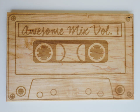Awesome Mix Vol. 1 Cutting Board in Solid Hard Maple - Hard Candy Woodshop