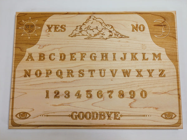 Ouija - Inspired Maple Spirit Cutting / Serving Board - Hard Candy Woodshop
