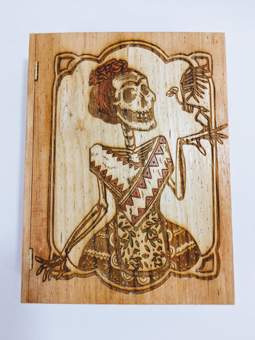 Frida Kahlo / Day of the Dead / Dia De Los Muertos Book Box - Hard Candy Woodshop