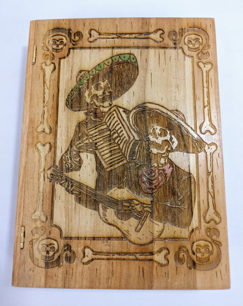 Mariachi / Dia De Los Muertos / Day of The Dead Book Box - Hard Candy Woodshop