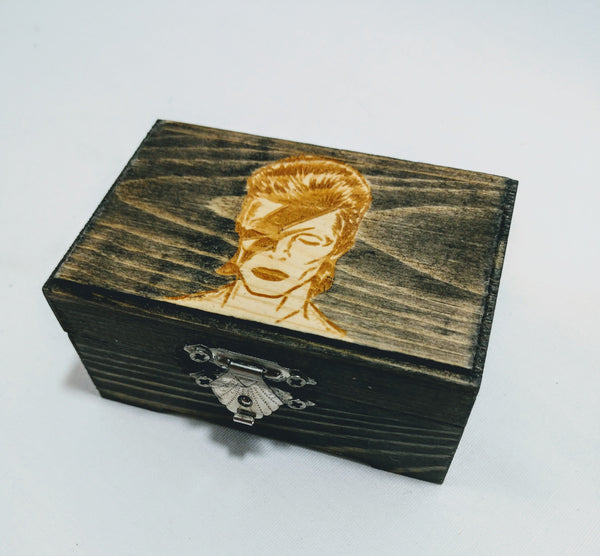 David Bowie / Ziggy Stardust Small Trinket Box - Hard Candy Woodshop
