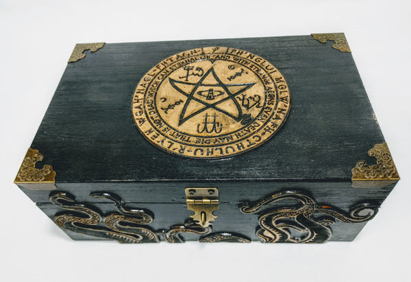 Call Of Cthulhu / Lovecraft / Cult of Cthulhu Keepsake Box - Hard Candy Woodshop