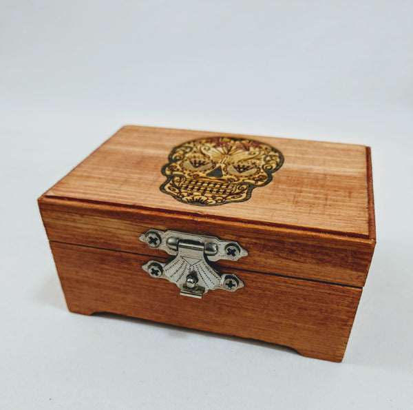 Sugar Skull (Male) Small Trinket Box - Hard Candy Woodshop
