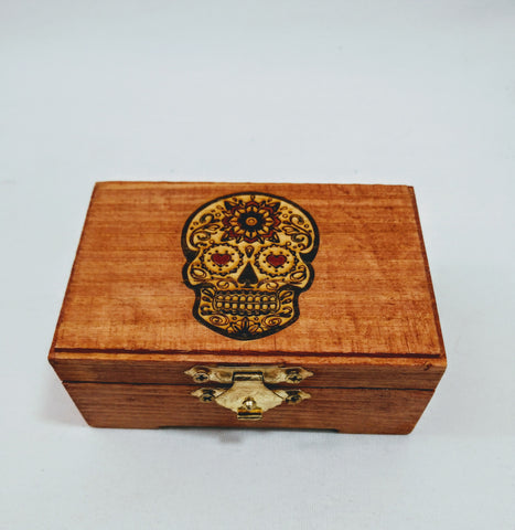 Sugar Skull Trinket Box (Female) - Hard Candy Woodshop
